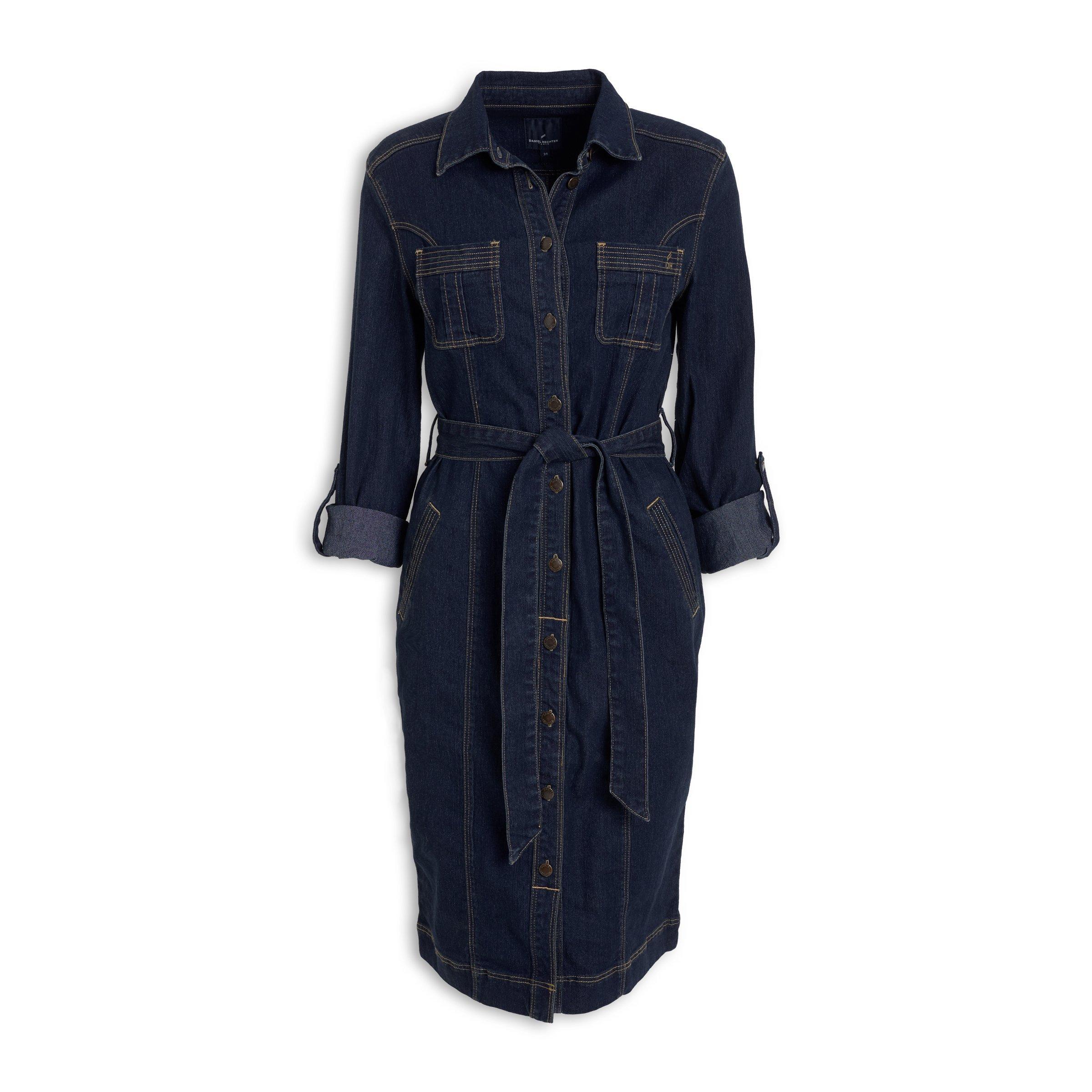 dbe6df7f790 Denim Belted Shirtdress