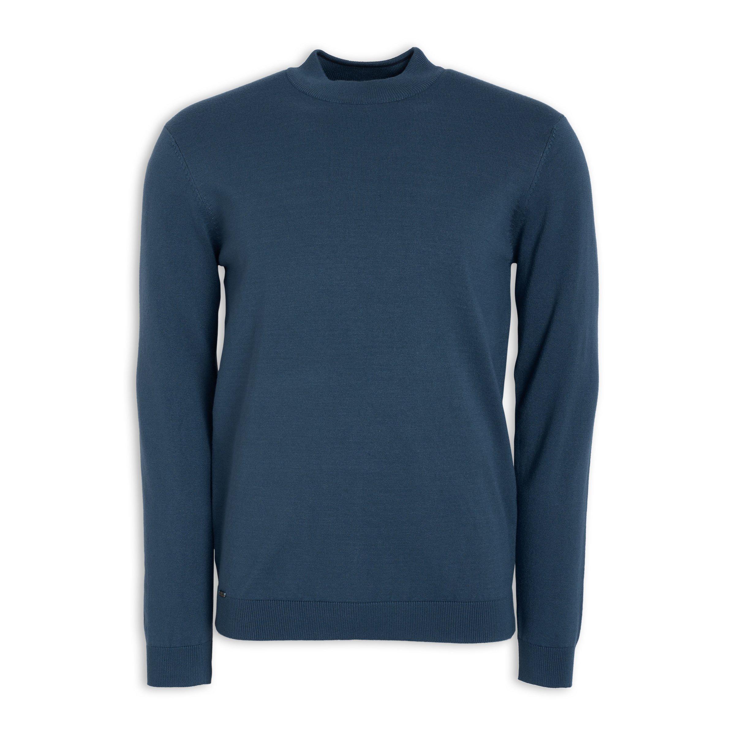 c32e596ee4 Blue Turtleneck Sweater