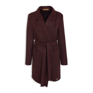 818d45b6ff1 Quick Shop · Ginger Mary - Burgundy Melton Coat