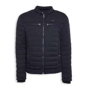 Navy Zip-Through Sweater