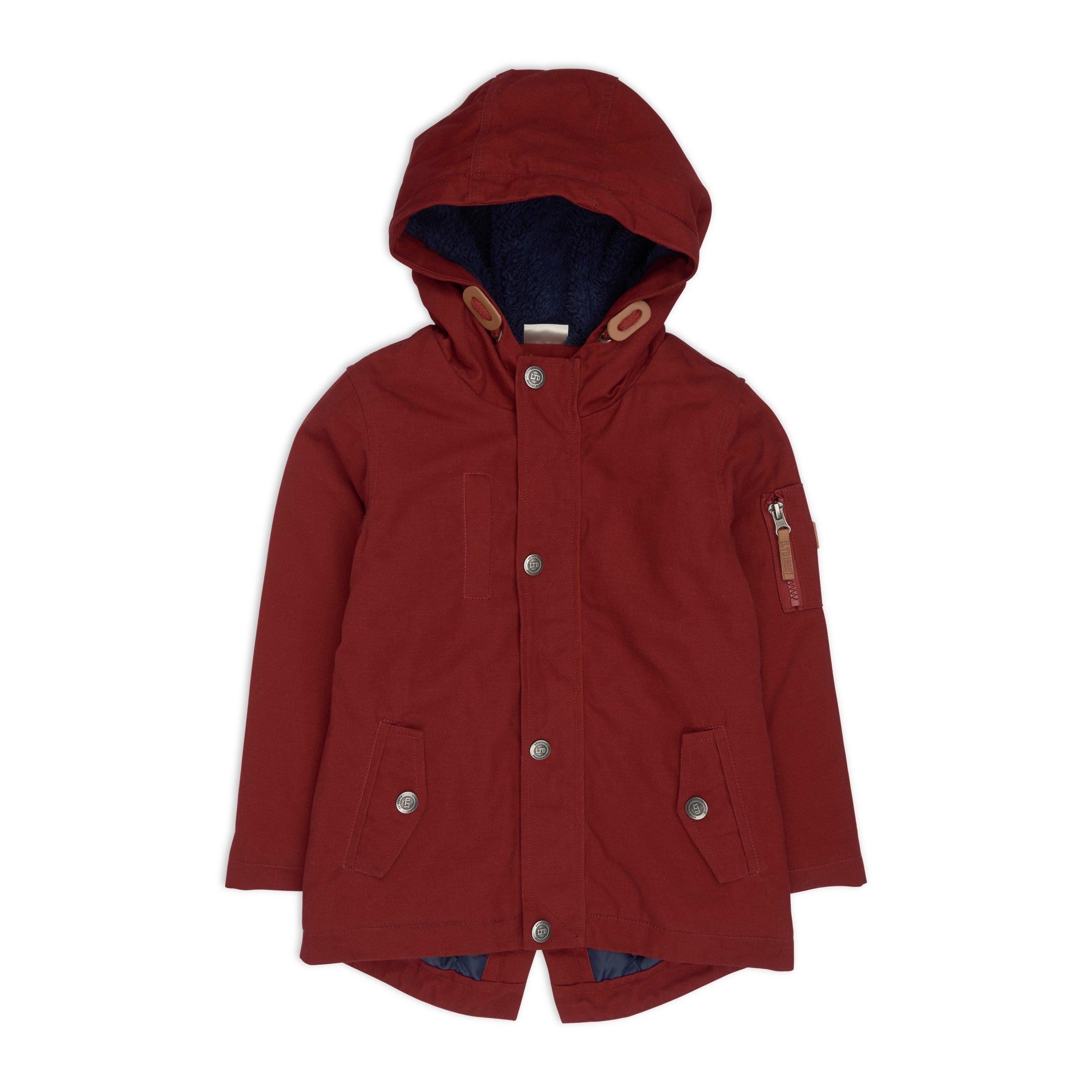 fbe97625db87 Boys Rust Parka Jacket