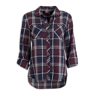 6a29dec1d14 Quick Shop · Inwear - Plum Check Shape Shirt
