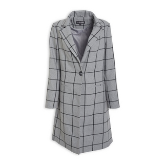 55cc170001b510 Quick Shop · Inwear - Grey Check Crombie Coat