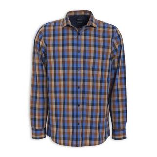 ffd855e9caae0 Quick Shop · Truworths Man - Camel & Navy Check Shirt