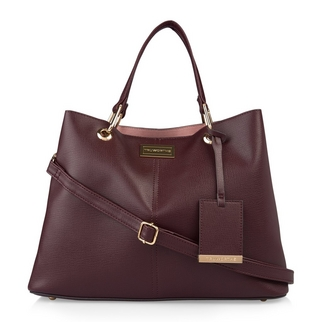 8ba3073c654f Quick Shop · Truworths - Burgundy Open Shopper Bag