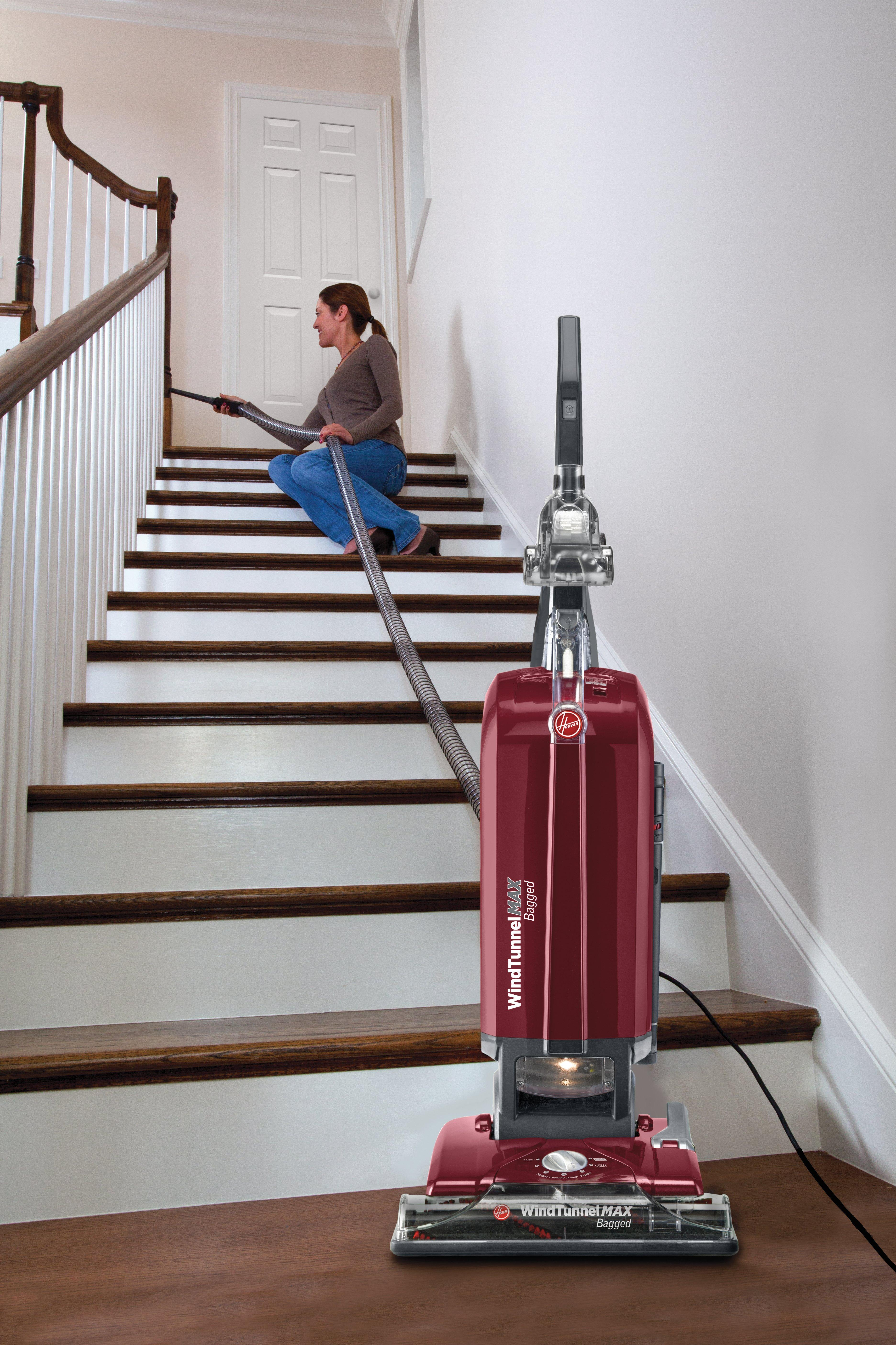 Hoover WindTunnel MAX Bagged Upright Vacuum Cleaner, UH30600 6