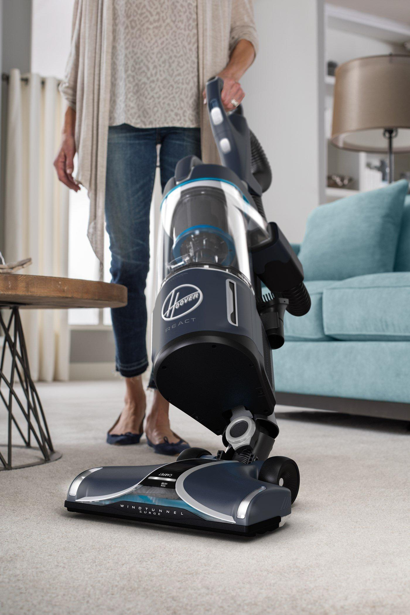 Hoover React Powered Reach Premier Upright Vacuum Cleaner