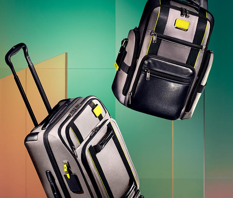 Innovative luggage and backpacks made with sustainable materials.