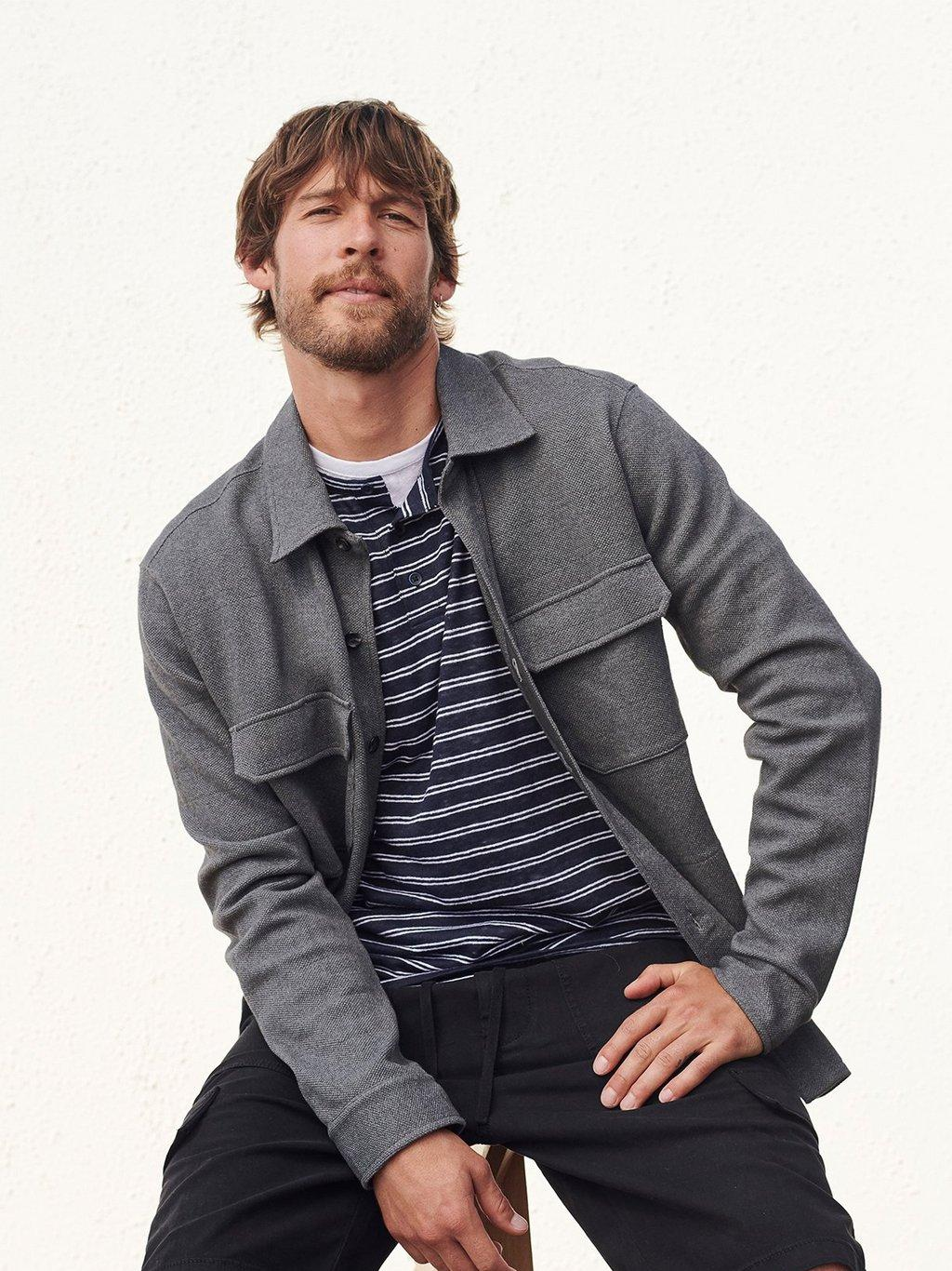 Moss Stitch Shirt Jacket Spring 2020 Collection for Men