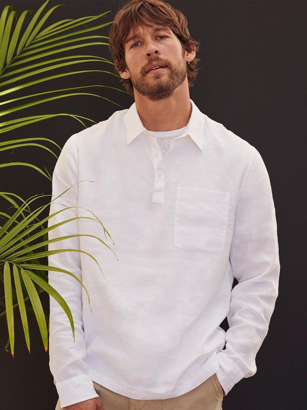 Linen Short Sleeve Crew Spring 2020 Collection for Men