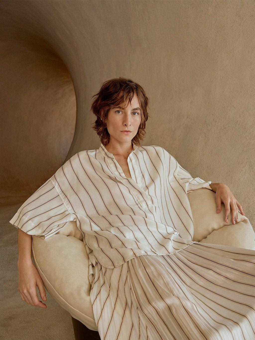 Silky Stripe Popover Spring 2020 Collection for Women