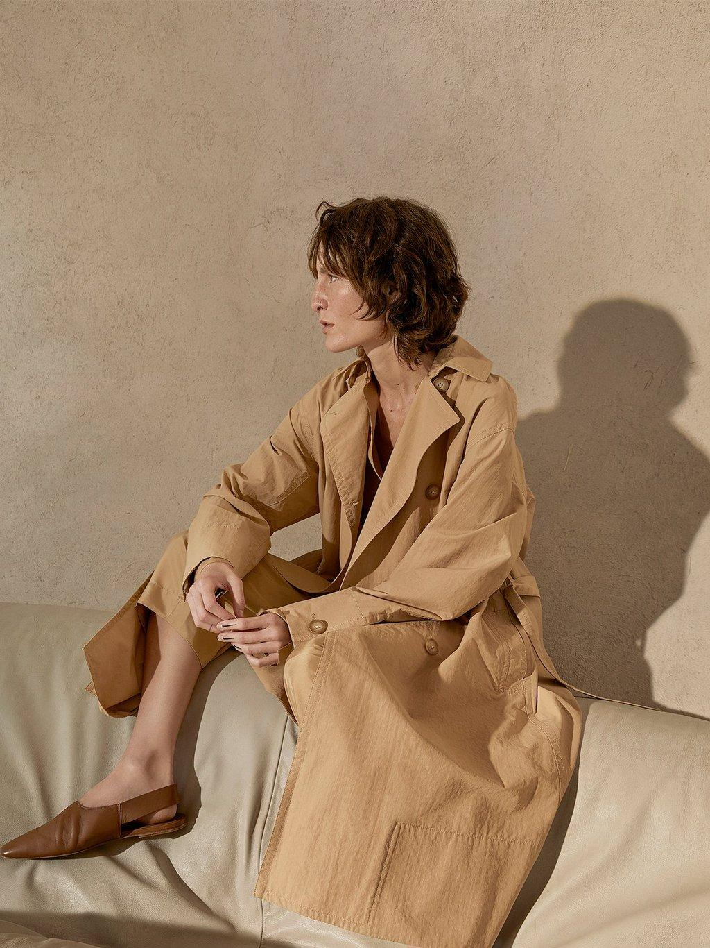 Drapey Tech Faille Trench Spring 2020 Collection for Women