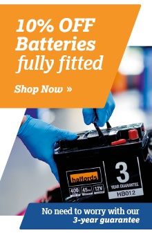 10% off Batteries, Fully Fitted