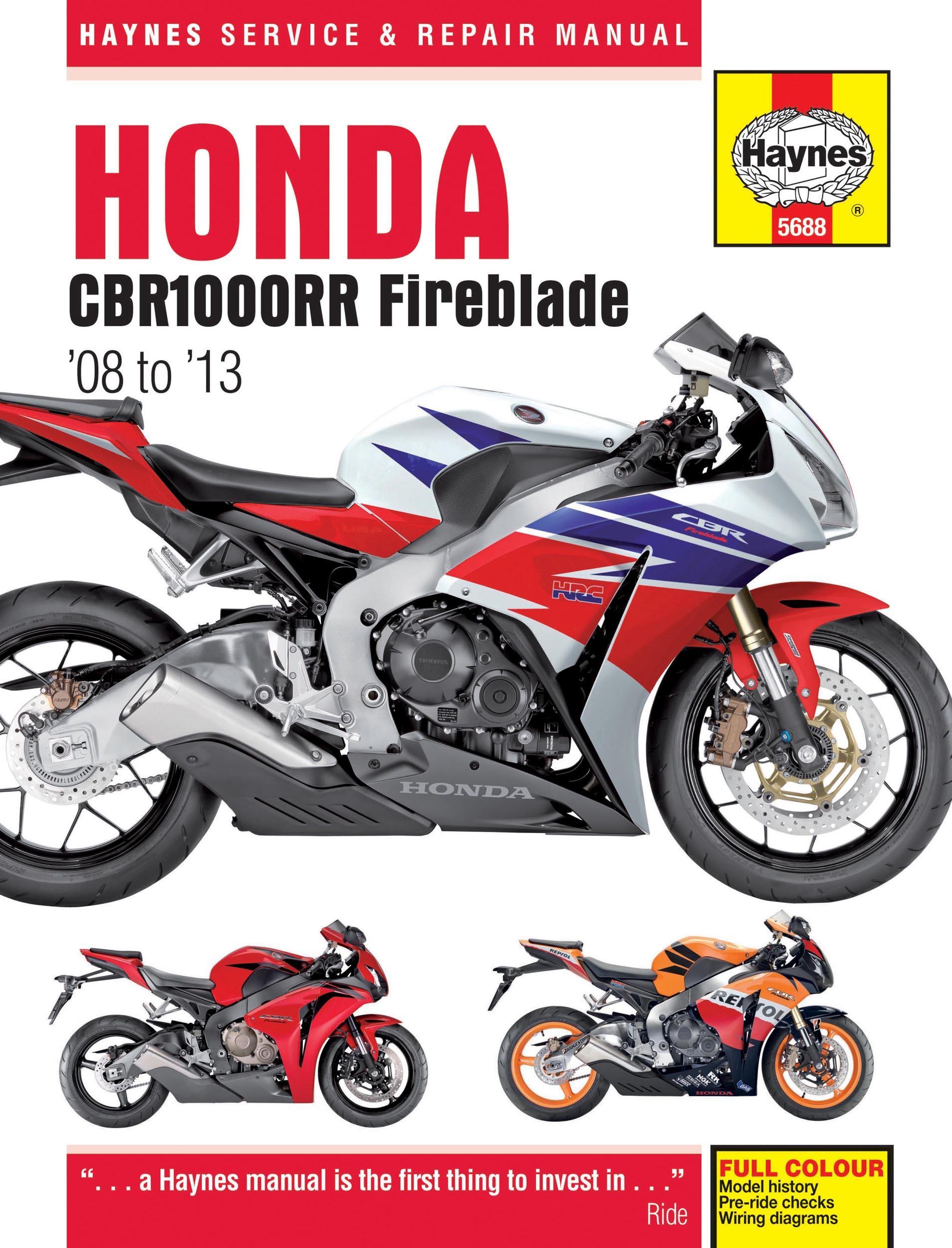 Honda cbr 1000 manual service manual array haynes honda cbr1000rr manual rh halfords fandeluxe Gallery