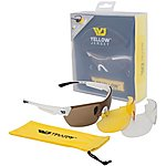 image of Yellow Jersey Sunglasses with Interchangeable Lenses - White