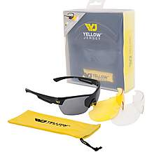 image of Yellow Jersey Sunglasses with Interchangeable Lenses - Black