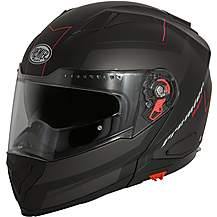 image of Premier Delta Flip Front Helmet Black/Red