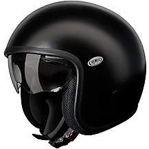Premier Open Face Vintage Helmet Matt Black