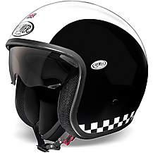 Premier Open Face Vintage Helmet Matt Blacl/W
