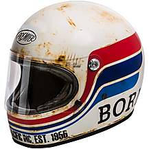 image of Premier Trophy Vintage Helmet Matt White/Black/Red