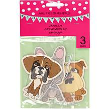 image of Flo's Fancies Dog Air Fresheners 3 Pack