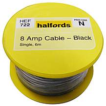 image of Halfords 8 Amp Cable Black HEF722