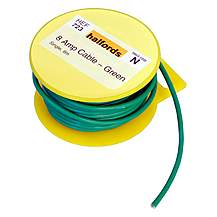 image of Halfords 8 Amp Cable Green HEF723