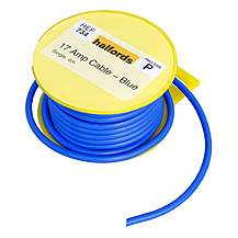 image of Halfords 17 Amp Cable Blue HEF734