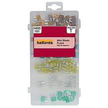 image of halfords assorted mini blade fuses hbb101