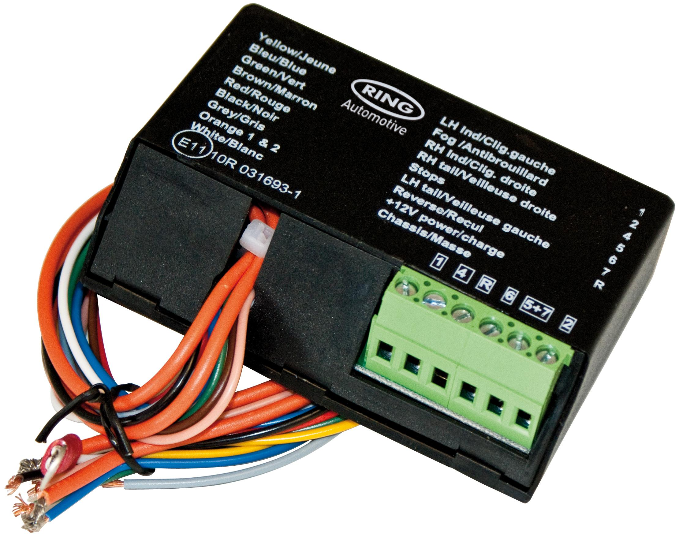 Towbar 7 Pin wiring kit Socket plug TEB7AS wires Bypass Relay fitting kit
