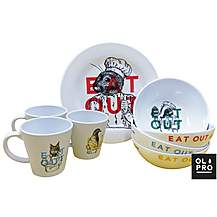 image of Olpro Eat Out 16pc Melamine Set