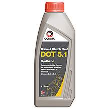 image of Comma DOT 5.1 Brake Fluid 1L