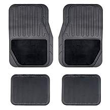 image of Halfords Carpet and Rubber Car Mats - Black