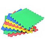 image of Rolson 8pc Coloured Inter-Locking Floor Mat