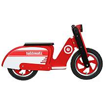 "image of Kiddimoto Red & White Scooter Balance Bike - 10"" Wheel"