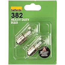 image of Halfords 382 P21W Heavy Duty Car Bulbs x 2