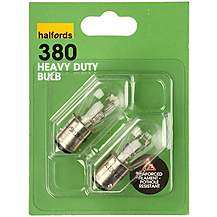 image of Halfords 380 P21/5W Heavy Duty Car Bulbs x 2