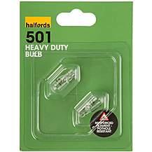 image of Halfords 501 W5W Heavy Duty Car Bulbs x 2