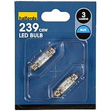 image of Halfords Blue Replacement bulb for Interiors and Number Plates