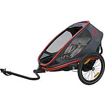 image of Hamax Outback Red/Charcoal - 2 Children Trailer