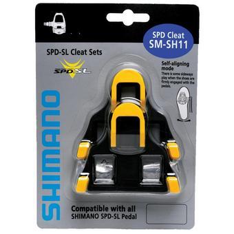 150220: SM-SH11 SPD SL-Cleats , Centre Pivot Floating, Yellow
