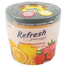 image of Refresh Gel Car Air Freshener Strawberry/Lemonade