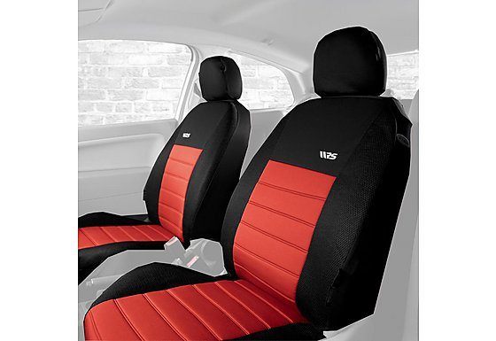 Halfords Ripspeed Car Seat Covers Front Pair Red