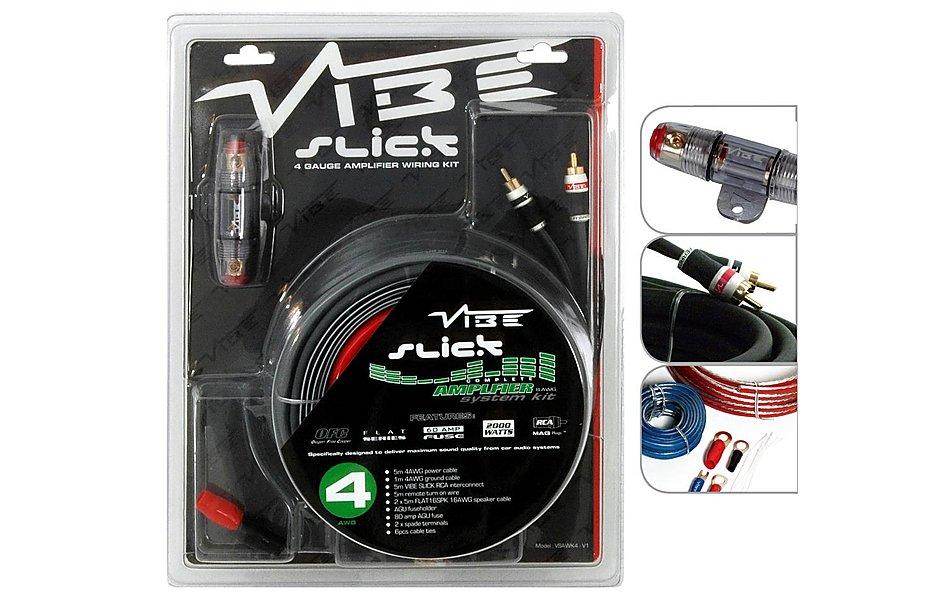 Vibe Slick 4 Gauge Amplifier Wiring Kit on
