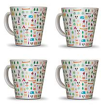 image of Olpro Berrow Hill Melamine Mugs x 4