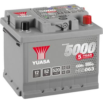 Yuasa HSB063 Silver 12V Car Battery 5 Year Guarantee
