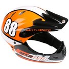 image of Motobike MXR450 Full Face Kids Bike Helmet - Orange (54-58cm)