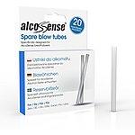 image of AlcoSense Breathalyser Blow Tubes x 20