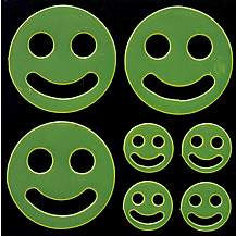 image of Yellow Smiley Face Hi-Vis Stickers