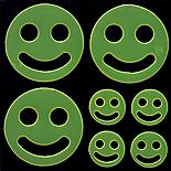 Yellow Smiley Face Hi-Vis Stickers